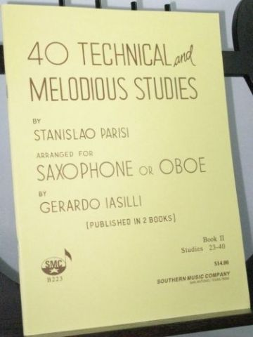 Parisi S - 40 Technical and Melodious Studies Book 2 Nos 23 - 40 arr Iasilli G